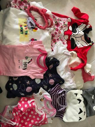 🚚 Baby Girl Clothes (0-6 months)