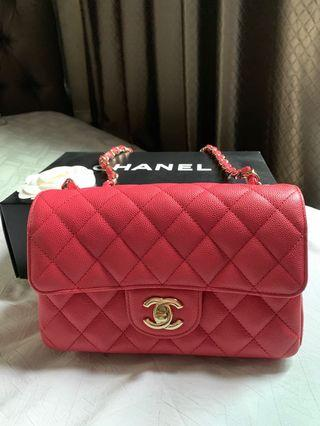 🚚 Almost New Chanel Mini Pink GHW