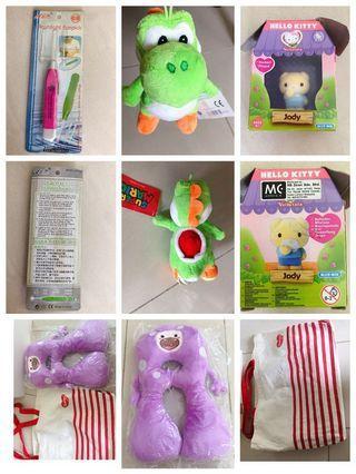 🚚 Flashlight earpick,green super Mario soft toy hello kitty Jody vellutata, Dumex pillow support with carrier