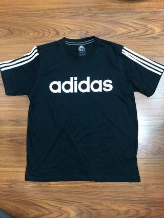 近全新 黑色 adidas 愛迪達短袖運動T恤