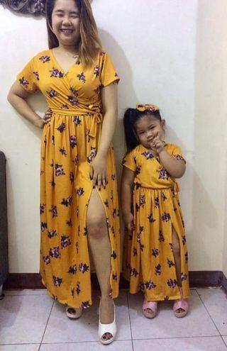 Mother & Daughter Overlap Dress