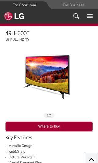 LG smart full hd tv 49