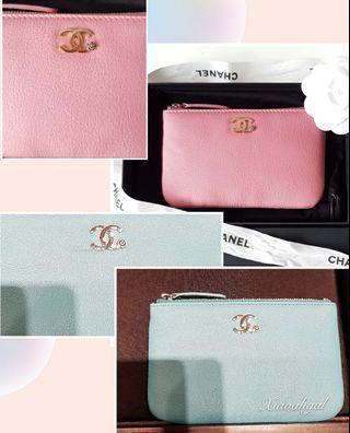 💖💙Perfect couple💙💖 Chanel limited edition pink tiffany & co blue camellia flower logo o case wallet