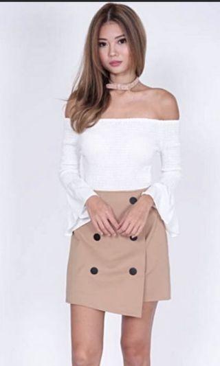 🚚 Biege button skirt