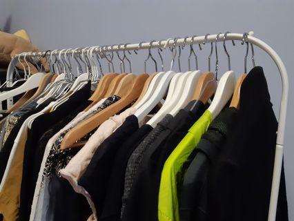 FREE clothes racks + hangers