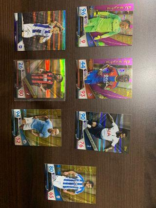Match attax ultimate foil cards