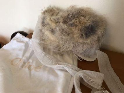 Chloe fur bag ( naturale )