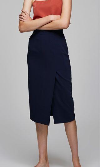 OSN Midi Pencil Skirt (Navy)