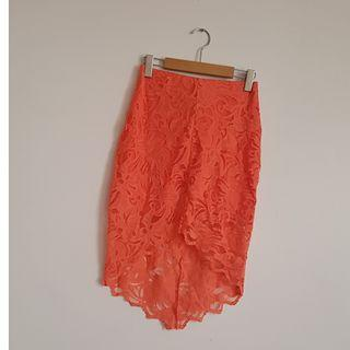 H&M High Low Orange Skirt
