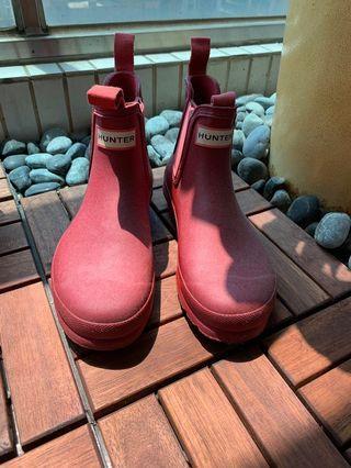 正品Hunter 2手雨靴