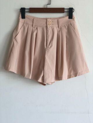 🚚 全新pazzo粉色 雪紡 褲裙 短褲