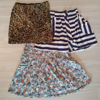 Set F - 3 Skirts for $18. Mink Pink, Jay Jays, Valley Girl