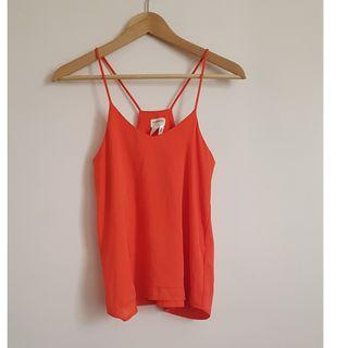 H&M Orange Spaghetti Strap Top
