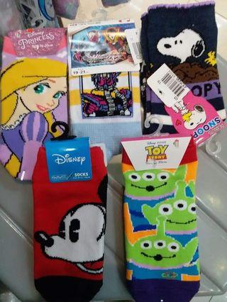 Japan socks 日本小童襪   Disney/Peanuts Snoopy/Toy Story/Tomica/MickeyMouse/超人/三眼仔/胡迪 $39@1對 $100@3對
