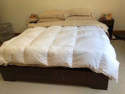 Bed with mattress