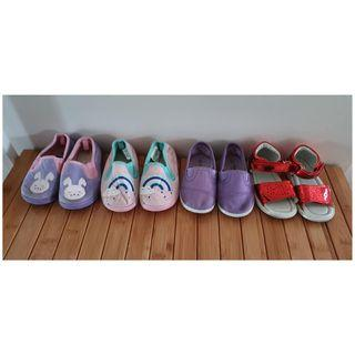 4 pairs Preloved shoes Size 6-7 toddler