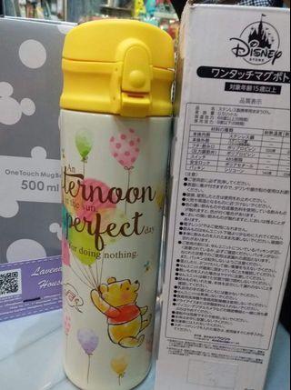 JAPAN Disney store 日本迪士尼限定版  one touch  Mug Bottle 500ml Winnie the pooh小熊維尼保暖壺保溫瓶..  日本代購 日本限量 Whatsapp 56963033 $299 黃埔花園有現貨