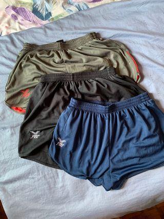 FBT Shorts in Blue, Silver and Black