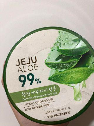 Aloe Vera Soothing Gel face shop ori new
