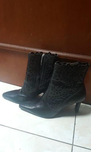 Cuci Gudang Black Boots Made In Brazil
