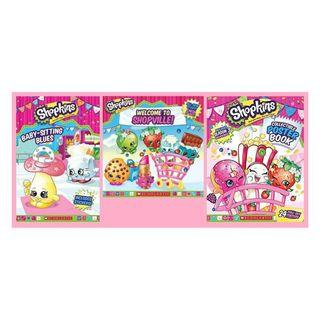 3x Brand new never used or read Shopkins Character books