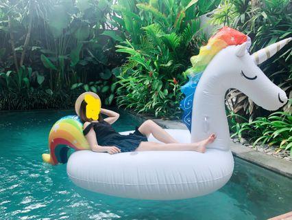 水上浮床 雙人獨角獸坐騎 連電泵