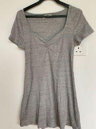 Pull&Bear Grey marle knit dress