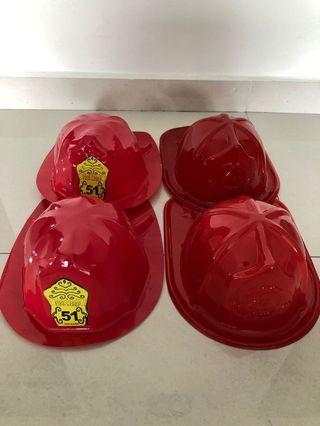 Fireman helmet firefighter hat red