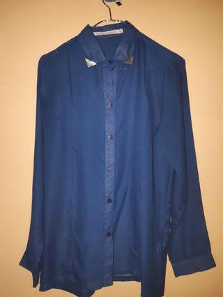 LM Hardware blue shirt