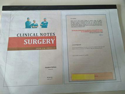 Surgery Clinical Notes
