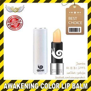 🚚 WOUWOU WOWO Colour Awakening Lip Balm Lip Stick (Authentic w QR Code) (moisturising, cracked lip)