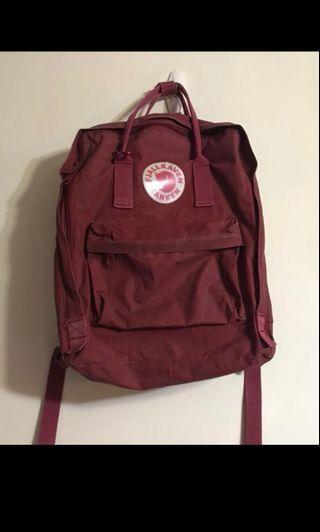 100%real Kanken red backpack bag 紅色 棗紅 棗紅色 背包 書包 背囊