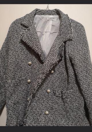 Woven Jacket in Grey