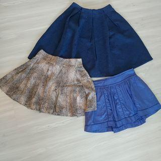 Set Q - 3 Skirts for $18. Zalora Premium, Mooloola, Jay Jays