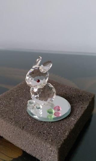 水晶兔小擺設