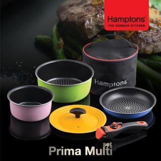 德國Hamptons露營攜帶式鍋具6件組【NG品,不影響使用】