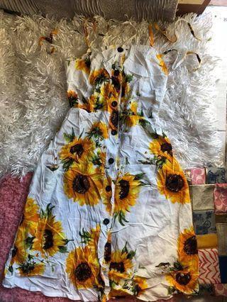 Buttondown Sunflower Dress