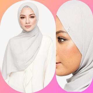 Naelofar Embellished Shawl - Silver Sconce