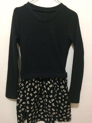 Sweater mix Dress