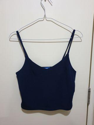 🚚 Navy Blue Crop Top