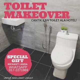 Pakej ubahsuai toilet lama tukar ala hotel