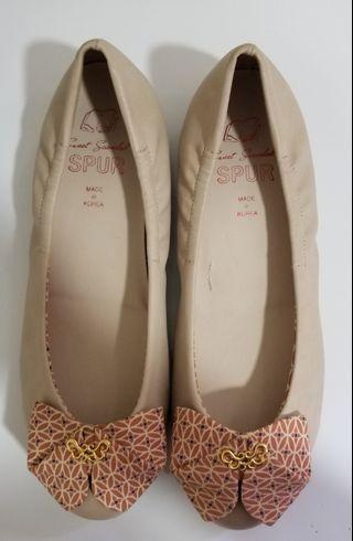 Korea spur Pink Flats  韓國粉紅蝴蝶平底鞋