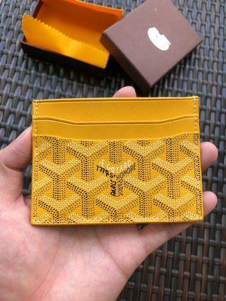 Yellow Goyard Cardholder
