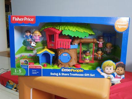 Fisher Price Little People Swing & Share Treehouse Gift Set