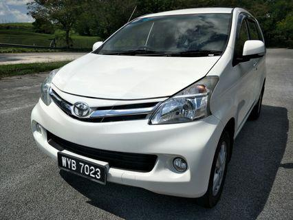 2013 TOYOTA AVANZA 1.5 G (A) 7 seated PERFECT CONDITION