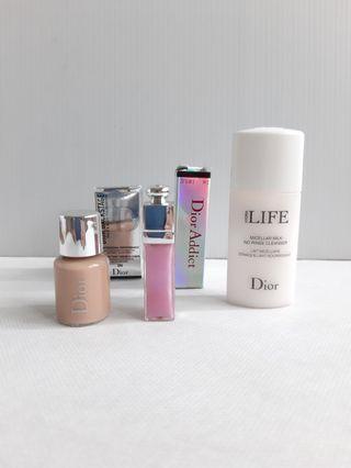 Dior 粉底 唇蜜 卸妝乳 小樣組合