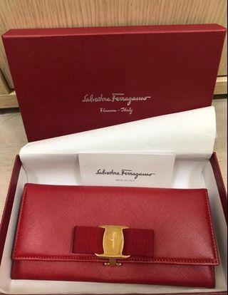 ❤️reduced!! BNIB Ferragamo red bow wallet