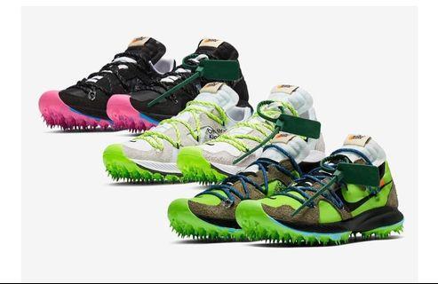 Off-White X Nike Zoom Terra Kiger 5   官方定價目前USD180$