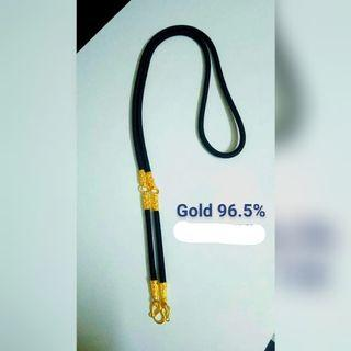 Real thailand gold 96.5% 3 hook necklace