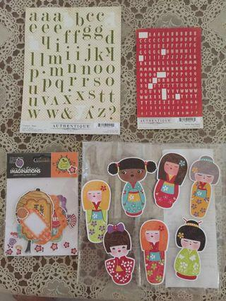 Papercraft and Alphabet Stickers